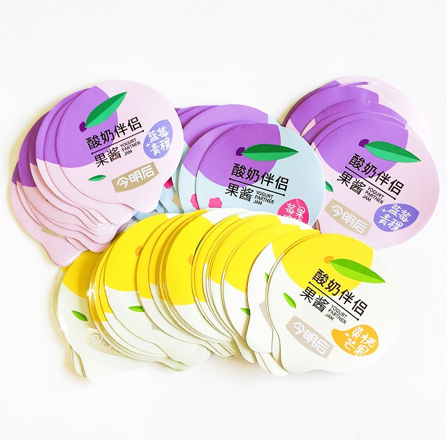 Die cut aluminum foil lids for yogurt cup